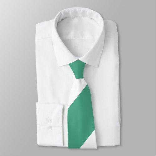 Turf Green and White Broad Regimental Stripe Neck Tie