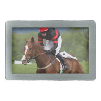 Turf Horse Race Belt Buckle