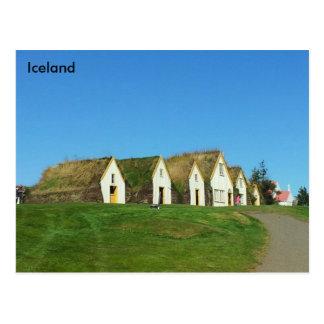 Turf houses in Glaumbær, Iceland Postcards