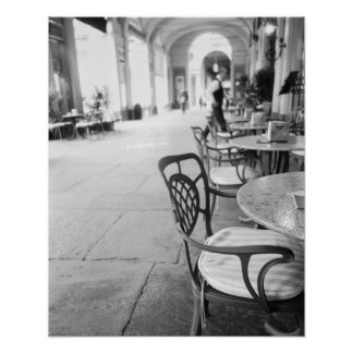 Turín Italia, café y arcada Impresiones