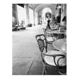 Turín Italia, café y arcada Postales