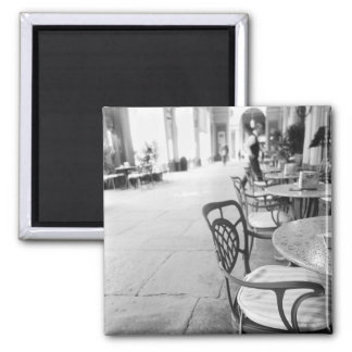 Turin Italy, Cafe and Archway 2 Inch Square Magnet