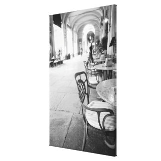 Turin Italy, Cafe and Archway Canvas Print