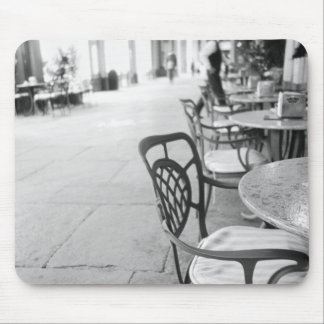 Turin Italy, Cafe and Archway Mouse Pad