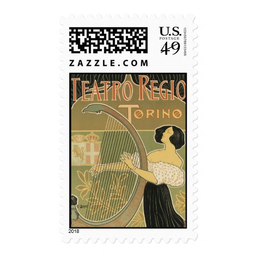 Turin Royal Opera House Stamps