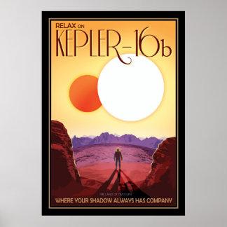 Turismo de espacio de Exoplanet Kepler-16b Póster