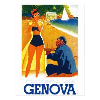 Turismo de Génova Italia del vintage Tarjetas Postales