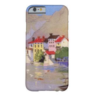 Turismo de Italia del pueblo de playa del vintage Funda Para iPhone 6 Barely There