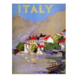 Turismo de Italia del pueblo de playa del vintage Postales
