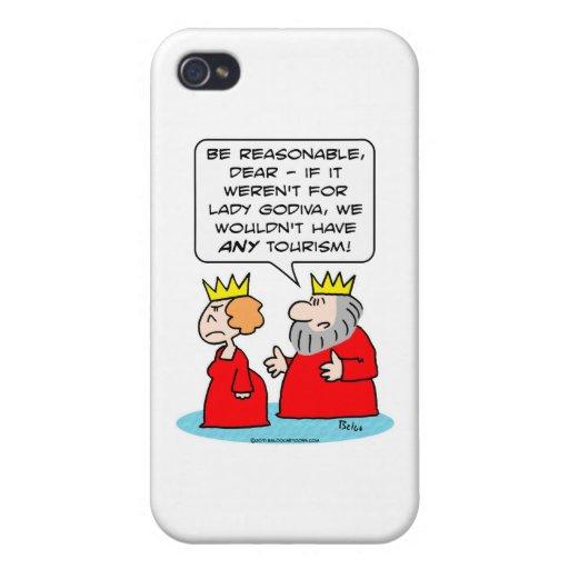 turismo de la reina del rey del godiva de la señor iPhone 4 funda