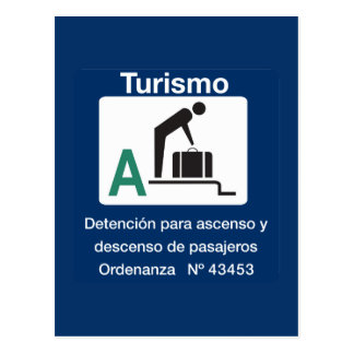 Turist Stop Point, Traffic Sign, Argentina Postcard