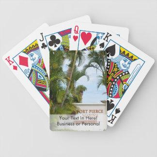 turista de la escena de la Florida de la muestra Baraja Cartas De Poker