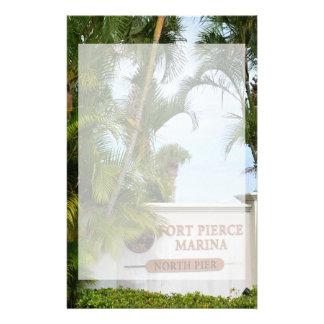 turista de la escena de la Florida de la muestra Personalized Stationery