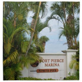 turista de la escena de la Florida de la muestra Servilleta