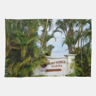 turista de la escena de la Florida de la muestra Toallas De Cocina