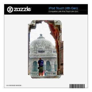 Turista en entrada iPod touch 4G skin
