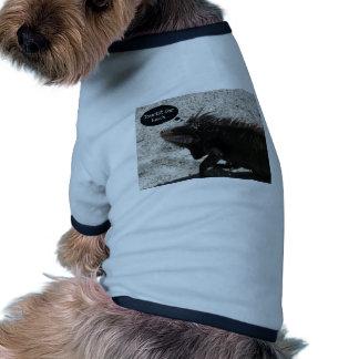 Turista para el almuerzo… camisetas de mascota