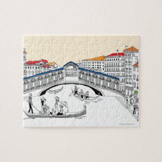 Turista que viaja en barcos puzzles