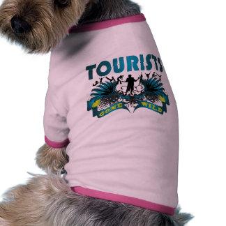 Turistas idos salvajes ropa para mascota