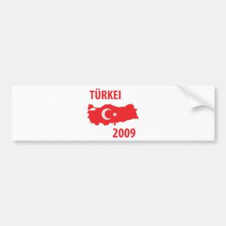 türkei 2009 icon bumper sticker