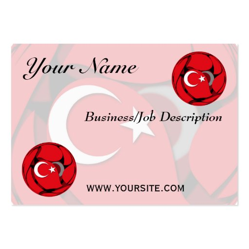 Turkey #1 large business cards (Pack of 100)
