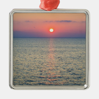 Turkey, Aegean Sea horizon at sunset 2 Metal Ornament