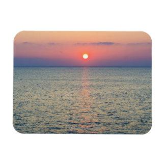 Turkey, Aegean Sea horizon at sunset 2 Rectangular Photo Magnet