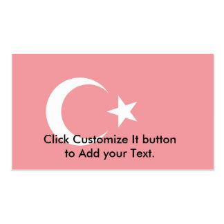 Turkey (Alternate), Turkey flag Business Card Templates