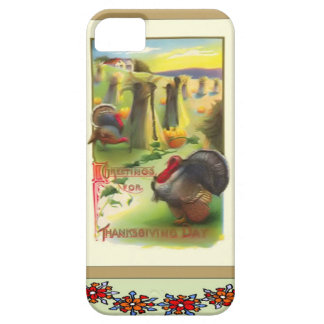Turkey amongst the corn stooks iPhone SE/5/5s case