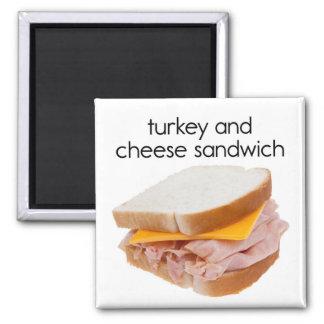 Turkey and Cheese Sandwich Refrigerator Magnet