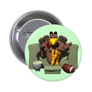 Turkey and Football 2 Inch Round Button