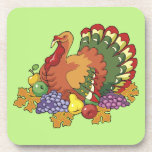 Turkey and Fruit Thanksgiving Cork Coaster
