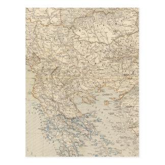 Turkey and Greece Atlas Map Postcard