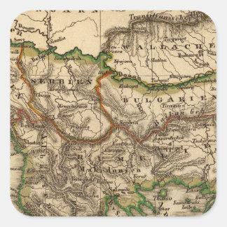 Turkey and Greece Map Square Sticker