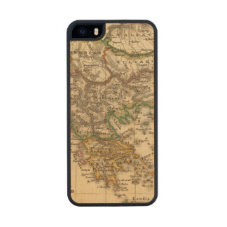 Turkey and Greece Map Carved® Maple iPhone 5 Case