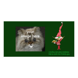 turkey and mistletoe picture card