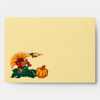 Turkey and Pumpkin Design Thanksgiving Envelopes