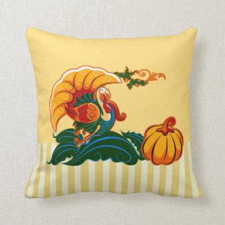 Turkey and Pumpkin Thanksgiving Gift Pillows