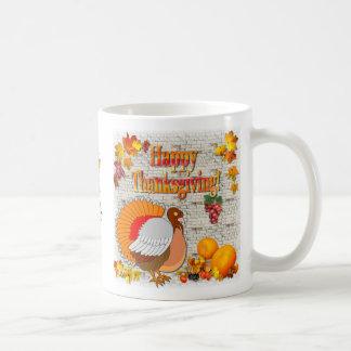 Turkey and pumpkins ~ Thanksgiving day mug