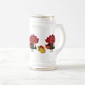 Turkey and Pumpkins Thanksgiving Gift Mugs