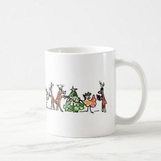 Turkey and tinsel time coffee mug
