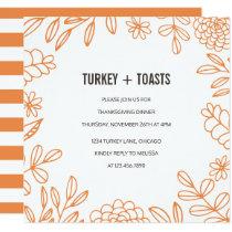 Turkey and Toasts Invitation