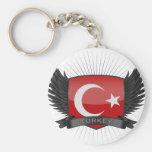 TURKEY BASIC ROUND BUTTON KEYCHAIN