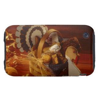 Turkey basket  with muffins and cookies iPhone 3 tough cover