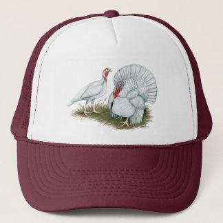 Turkey:  Beltsville Small White Trucker Hat