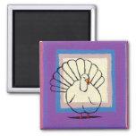 Turkey big tom bird unique modern art painting fridge magnet