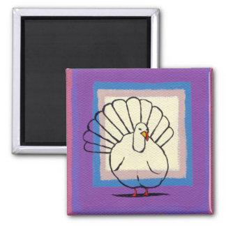 Turkey big tom bird unique modern art painting magnet