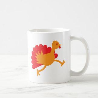 Turkey bird on the run! coffee mug