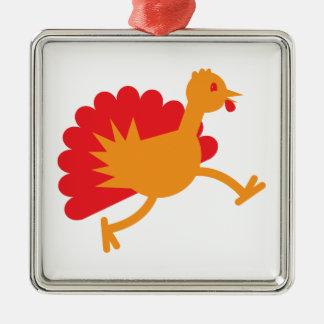 Turkey bird on the run! ornament