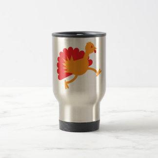 Turkey bird on the run! travel mug